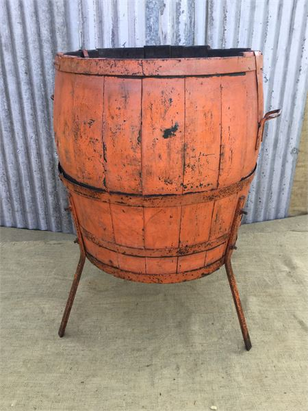 French coopered wooden barrel