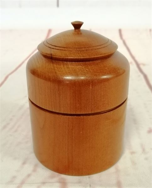 Cherry Wood Treen Pot