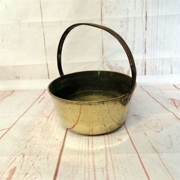 Heavy Brass Vintage Jam Pan