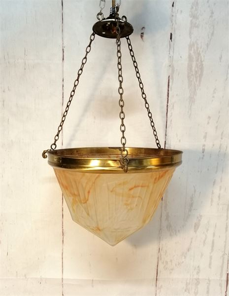 Art Deco Glass Hanging Light shade