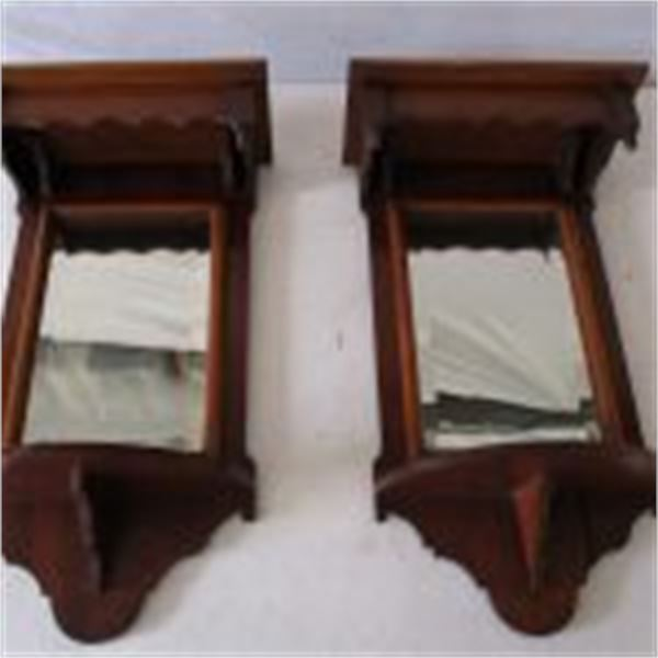 Pair of Late Victorian Early Edwardian Candle Mirror
