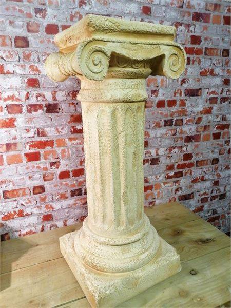 Plaster Display Columns. Roman Paladian Style. Four available.