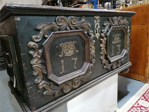 Early 18th century Norwegian Wedding Chest. Dated 1713. Good original condition.